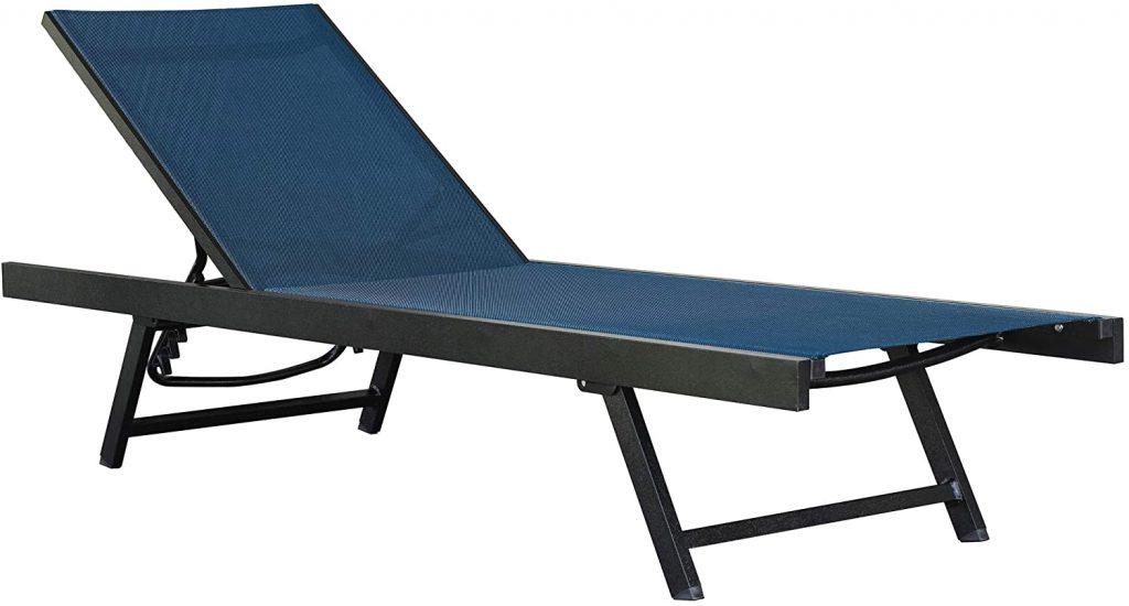 chaise longue aluminium